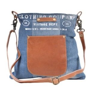 Great Blue Jean and Leather Bag